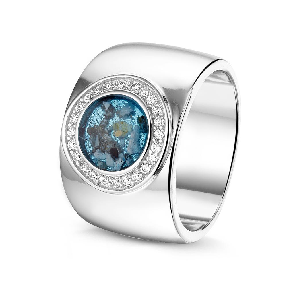Ring Breed Open Ruimte Zilver Goud Diamant Gold Line
