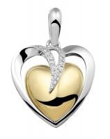 Ashanger zilver hartvorm, zirkonia's