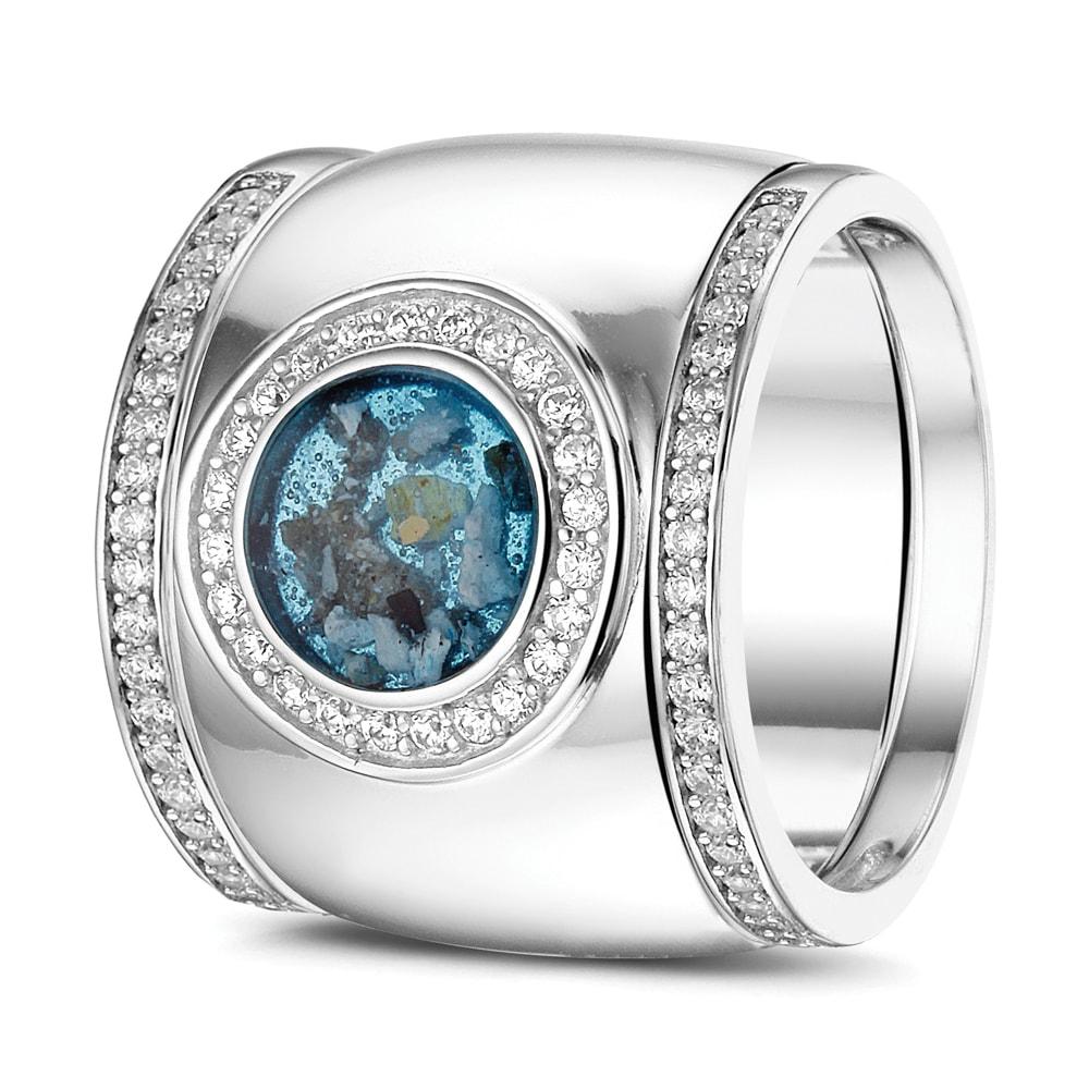 Ring Breed Open Ruimte Zilver Goud Diamant Siders Gold Line