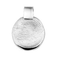 Zilveren vingerafdrukhanger, rond, SeeYou
