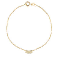 Cube, 2, inclusief armband, 14kt goud, Just Franky