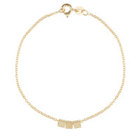 Cube, 3, inclusief armband, 14kt goud, Just Franky