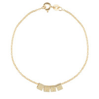 Cube, 4, inclusief armband, 14kt goud, Just Franky