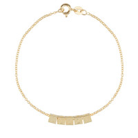 Cube, 5, inclusief armband, 14kt goud, Just Franky