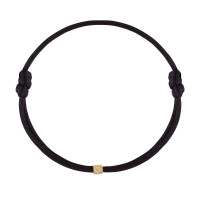Cube, 1, inclusief armband satijn, 14kt goud, Just Franky