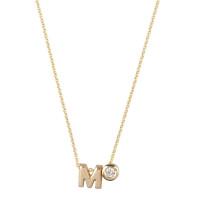 Capital, 1 en diamant inclusief collier, 14kt goud, Just Franky