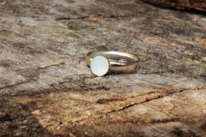 Mimmie ring, zilver, grote open ruimte, Mimmie Sieraden