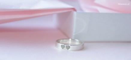 Lian ring, zilveren ring met 2 harten, Mimmie Sieraden