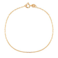 Cube armband, 14kt goud, Just Franky