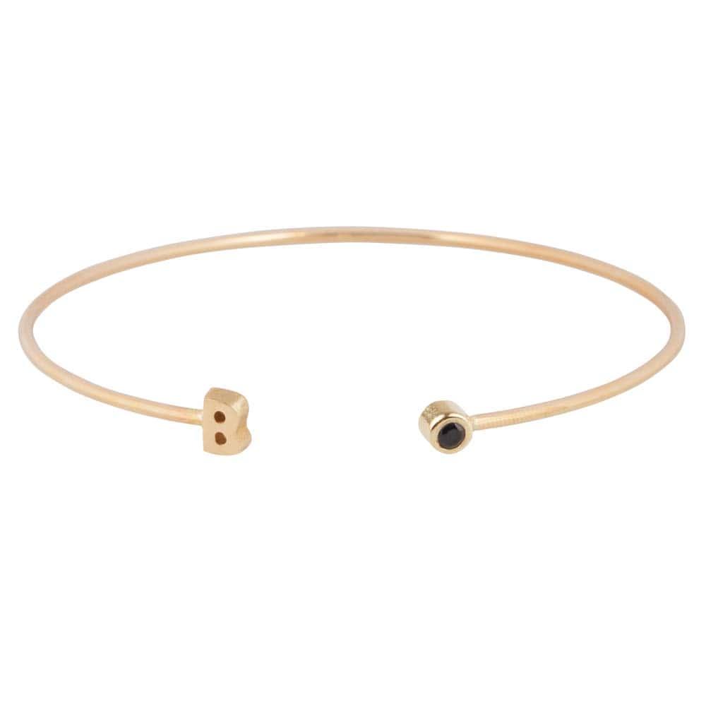 gouden-armband-letter-capital-diamant-zwart jf-capital-armband- da1eb46fc0d20