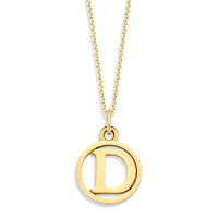 Hanger met letter, 14kt goud, Just Franky