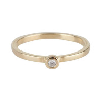 Diamond ring in 14kt goud, Just Franky