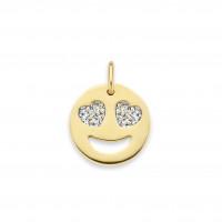 Smile Heart Eyes Diamond bedel, 14kt goud, Just Franky
