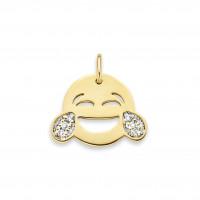 Smile Laugh  Diamond bedel, 14kt goud, Just Franky