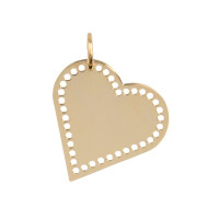 Heart big, 14kt goud, Just Franky