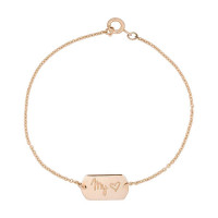 Tag armband chain, 14kt goud, Just Franky