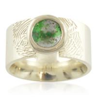 Brede ring, kleine Dreamscape, ook met vingerafdruk