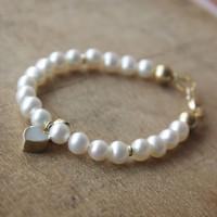 Armband, Zoetwaterparels met goud, Mimmie sieraden
