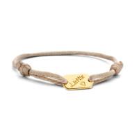 Armband met Tag, 14kt goud, Just Franky