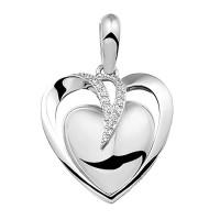 Hanger zilver hartvorm, 2 varianten