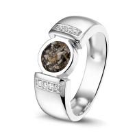 Zilveren ring met ronde open ruimte, twee varianten