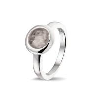 Zilveren ring met open ruimte, 4 varianten