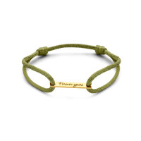 Bar bracelet persoonlijk gravure in 14kt goud, Just Franky
