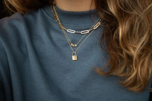 Charm Collier, 14kt goud, Just Franky