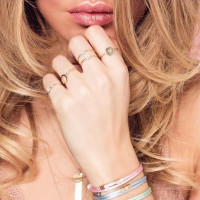 Iconic, Cross ring, 14kt goud, Just Franky