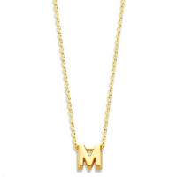 Capital, 1, inclusief collier, 14kt goud, Just Franky
