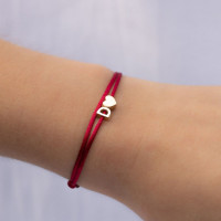Capital armband, 2 letter(s) of symbool in 14kt goud, Just Franky
