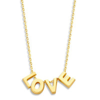 Capital, 4, inclusief collier, 14kt goud, Just Franky