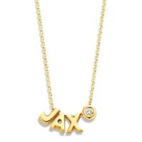 Capital, 3 en diamant inclusief collier, 14kt goud, Just Franky