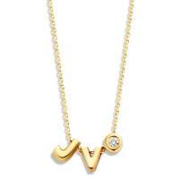 Capital, 2 en diamant inclusief collier, 14kt goud, Just Franky