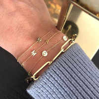 Charm armband, 14kt goud, Just Franky