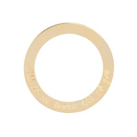 Open Circle groot, 14kt goud, Just Franky