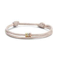Triple Love Bracelet, 14kt goud, koord, Just Franky