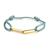 Charm Bracelet 1/2, 14kt goud, koord, Just Franky