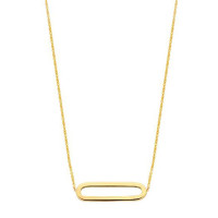 Charm Collier 1/2, 14kt goud, koord, Just Franky