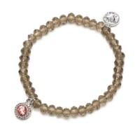 Bracelet Charm rose/blauw, Proud Mama