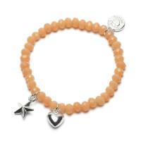 Bracelet Charm Ster/Hart, Proud Mama, 6 kleuren