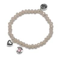 Bracelet Charm roze, Proud Mama, 4 kleuren