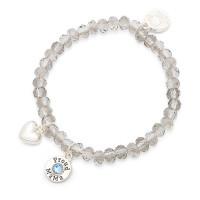 Bracelet Charm blauw, Proud Mama, 4 kleuren