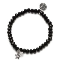 Bracelet Charm Ster, Proud Mama, zwart